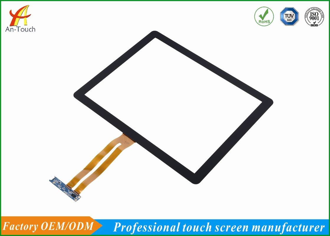 Sensitive Waterproof 17 Inch Touch Panel 2mm Front Glass For Coffee Table